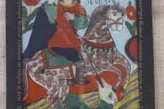 Sf. Gheorghe - Icoană pe sticlă