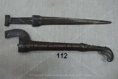 Pumnal scitic scurt din bronz + teacă FIRMINIŞ