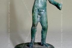 """Statuetă romană din bronz """"Zeul Marte"""""""