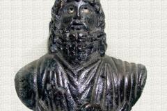 """Statuetă romană din bronz """"Zeul Serapis"""""""