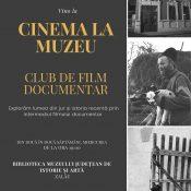 Cinema la Muzeu. Club de film documentar-afiș